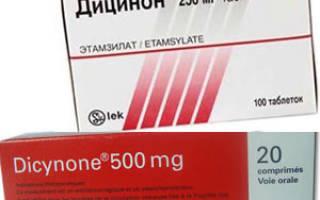 Дицинон инструкция применению таблетки детям
