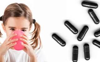 Активированный уголь применение детям дозировка в таблетках