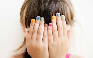 Можно ли детям красить ногти