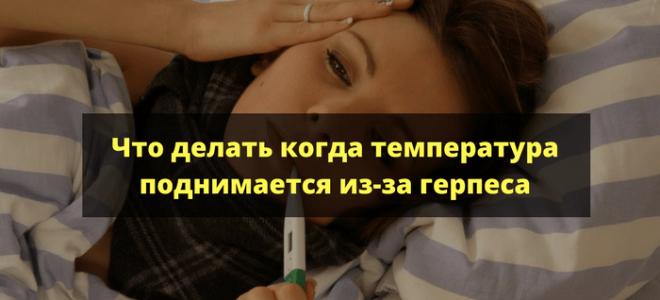 Вирус герпеса погибает при температуре